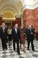 President of the Republic of Ireland Mary McAleese visits the Hermitage