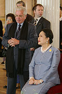 Visit to the State Hermitage by Queen Sirikit of Thailand