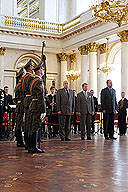 The Hermitage Receives the Standard of His Majesty's Life Guards Lancer Regiment for the Museum of the Guards