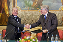 Collaboration Agreement signed between the State Hermitage Museum and the Villa Russiz Foundation, Italy